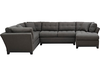 Illusions-II Slate 3 Piece Right-Arm Facing Chaise Sectional, , large