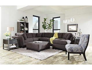 Illusions II Slate 3 Piece Right-Arm Facing Chaise Sectional, Slate, large