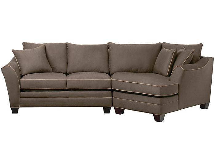 Dillon Mineral 2 Piece Right Arm Facing Cuddler Sectional Art Van Home