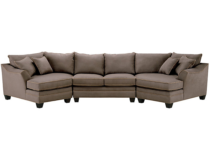 Remarkable Dillon Mineral 3 Piece Dual Cuddler Sectional Ibusinesslaw Wood Chair Design Ideas Ibusinesslaworg