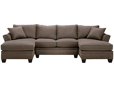 Dillon Mineral 3 Piece Dual-Chaise Sectional, , large