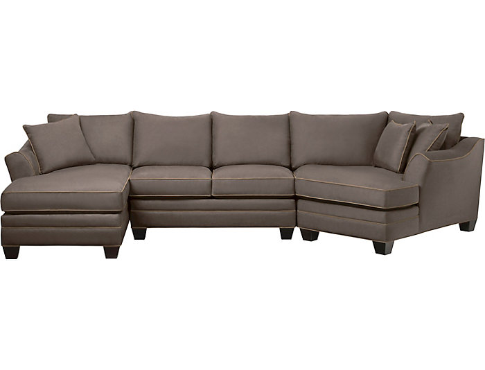 Exceptionnel Dillon 3 Piece Right Arm Facing Cuddler Sectional, Mineral