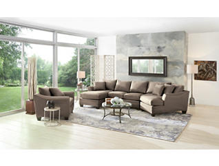 Dillon Mineral 3 Piece Right-Arm Facing Cuddler Sectional, Mineral, large