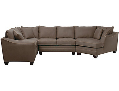 Leather Amp Fabric Sectional Sofas Art Van Home