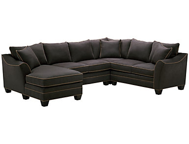 Dillon 4-Piece Left-Arm Facing Chaise Sectional, Slate, , large