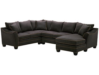 Dillon 4-Piece Right-Arm Facing Chaise Sectional, Slate, , large