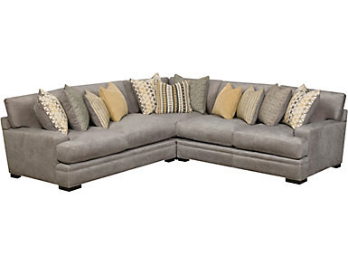 Sonata 3 Piece Sectional, Grey, , Large
