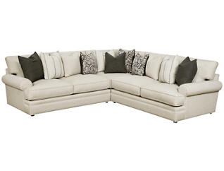 Lincoln Square Sectional, White, , large