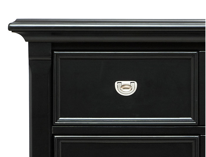 Breeze Black 5 Drawer Chest, , large
