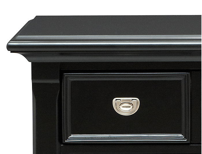 Breeze Black 3Dr Nightstand, , large