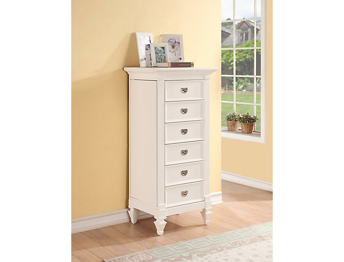 Breeze White Jewelry Chest, , large