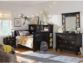 Breeze Black Youth  7 Drawer Dresser, Black, large