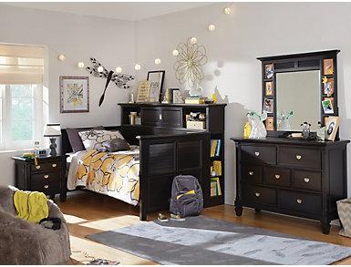 Breeze Black Youth  7 Drawer Dresser, Black, large