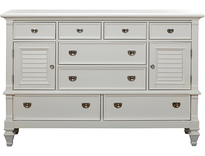 Incroyable Breeze White 8 Drawer 2 Door Dresser