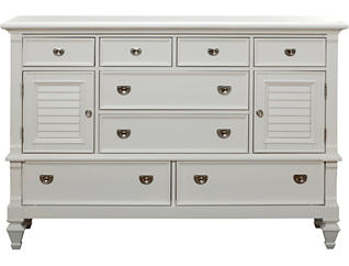 Breeze White 8 Drawer - 2Door Dresser, , large