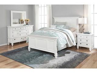 Breeze White 3 Piece Queen Bedroom Set   Art Van Home