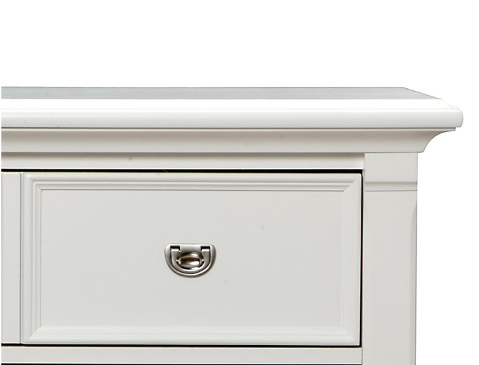 Breeze White 5 Drawer Chest, , large