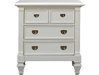 Breeze White 3Dr Nightstand, , large