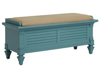 Breeze Blue Uph Storage Bench, , large