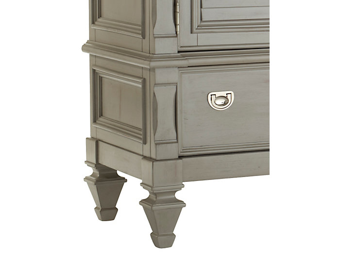Breeze Grey 8 Drawer 2 Door Dresser