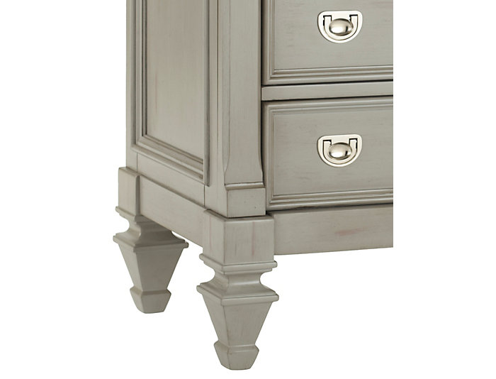 Breeze Grey 3 Drawer Nightstand, , large