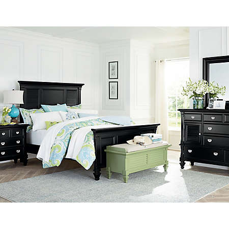 shop summer breeze black collection main black bedroom furniture collection