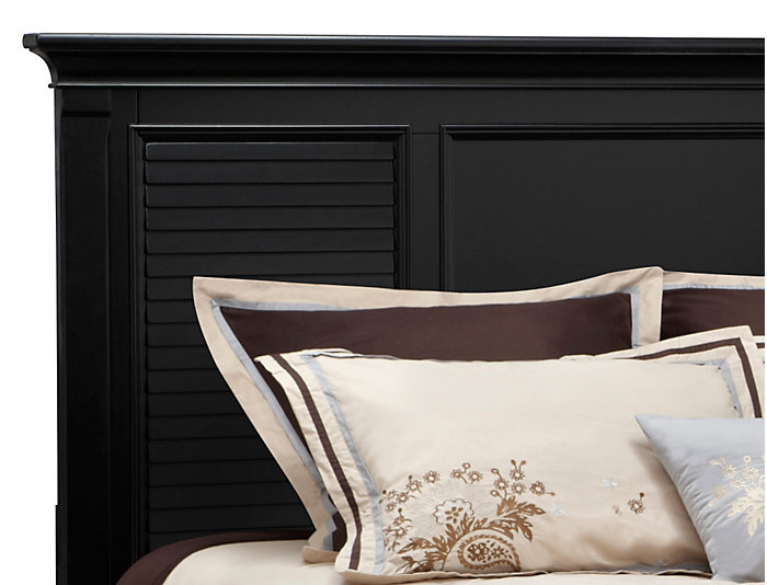 Breeze Black King Panel Bed, , large