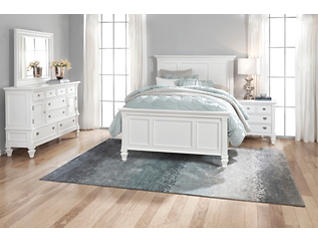 Breeze White King 3 Piece Bedroom, , large