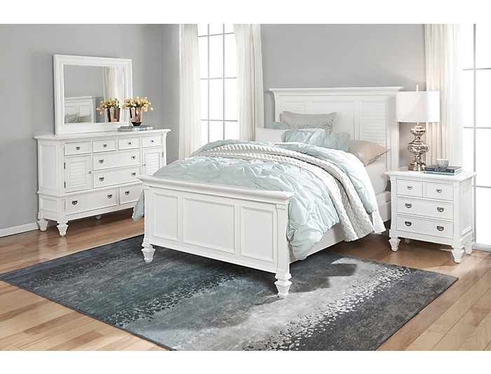 Breeze White 3 Piece Queen Bedroom Set