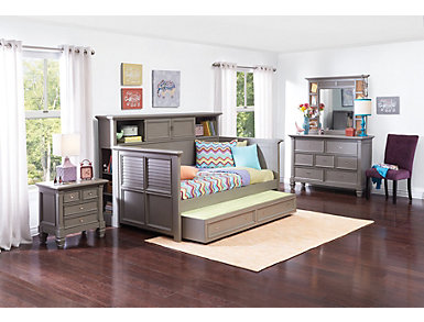 Breeze Grey Daybed With Bookcase, , large