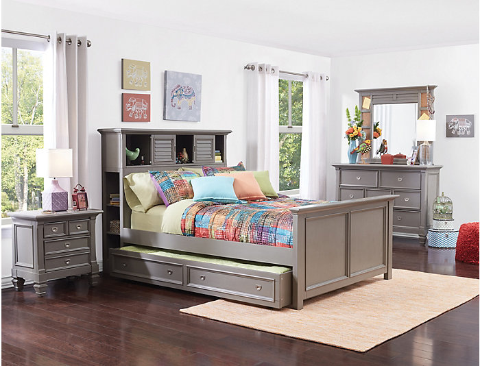 Twin Bookcase Bed, , large