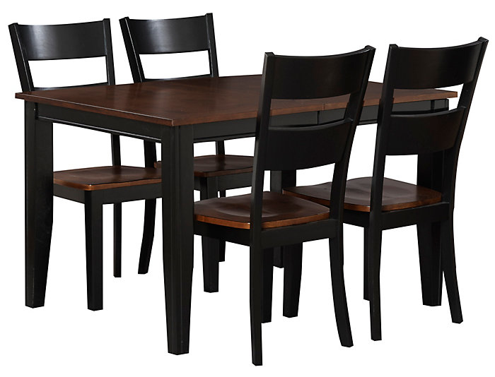 Choices 5 Piece Dining Set, Cherry, , large