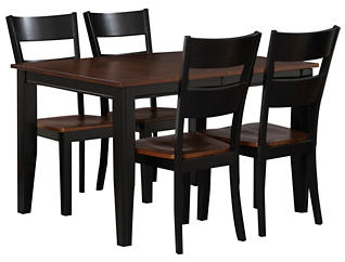 Choices 5PC Dining Set Cherry, , large