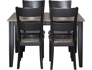 Choices 5 Piece Dining Set, Charcoal and Ebony, , large
