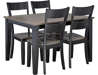 Choices Grey 5 Piece Dining Set, Charcoal, large