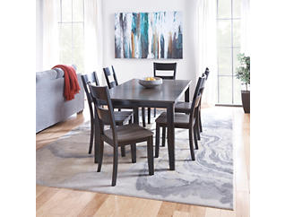 Choices Grey 7 Piece Dining Set, Charcoal, large