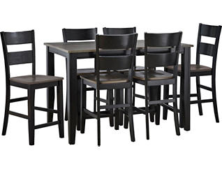 Choices Grey 7 Piece Gathering Set, Charcoal, large