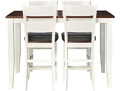 Choices 5 Piece Gathering Set, Ivory and Chestnut, , large