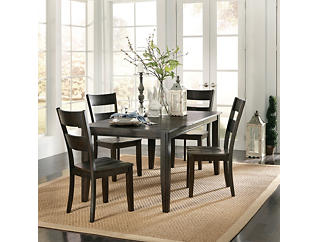 Choices 5 Piece Dining Set, Java, Brown, large
