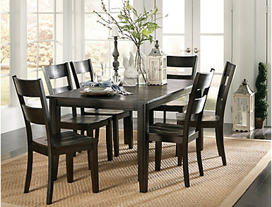 Choices 7 Piece Java Dining Set, , large