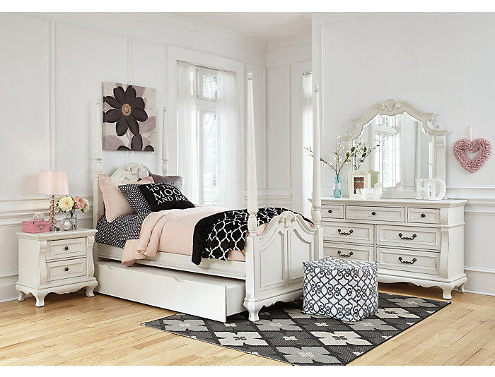 Chateau Monaco Twin Poster Bed, , large