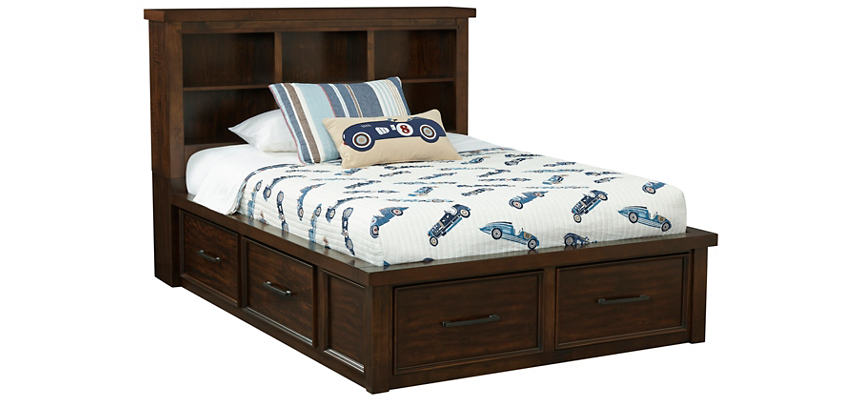 Magnificent Sonoma Full Book Bed With Storage Andrewgaddart Wooden Chair Designs For Living Room Andrewgaddartcom