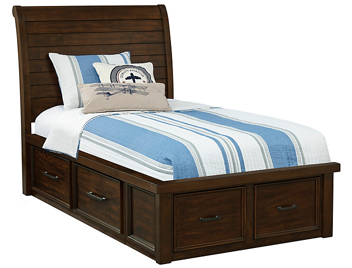 Sonoma Twin Sleigh Bed w/Stor., , large