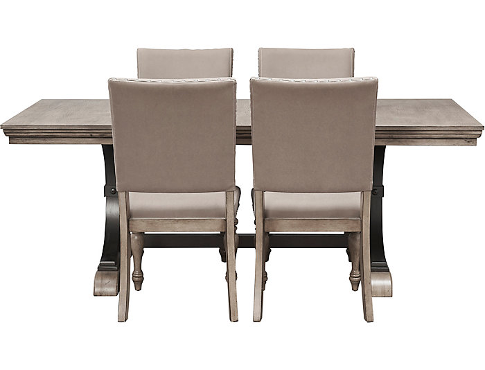 Estate 5 Piece Dining Set. Table And 4 Chairs. Grey Finish, , Large