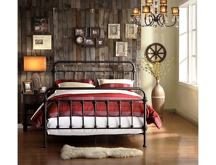 Bedford Queen Metal Bed, , large