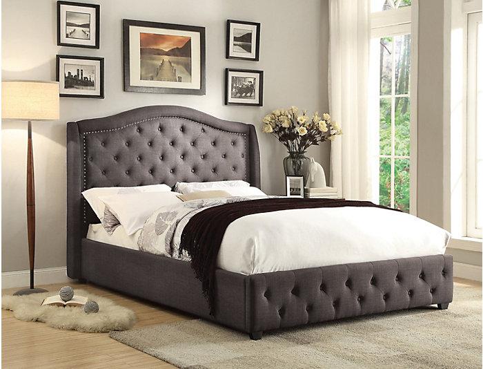 Monroe King Upholstered Bed, , large
