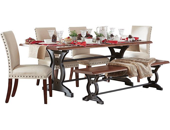 Pleasing Natural Loft Walnut Dining Table Creativecarmelina Interior Chair Design Creativecarmelinacom