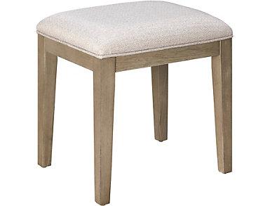 BelAir Upholstered Vanity Stool, , large