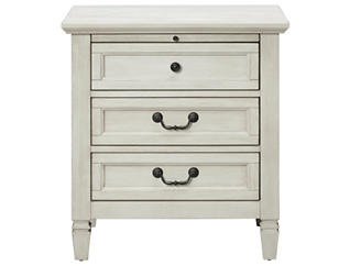 Lakeshore White 3Dr Nightstand, , large