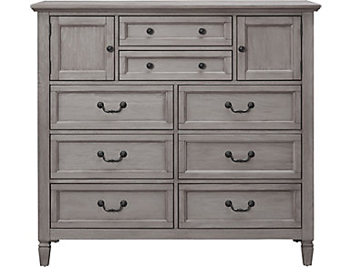 Lakeshore Grey 8 Drawer Chest, , large